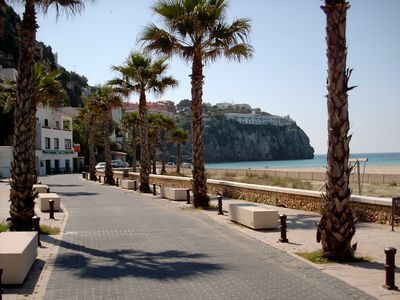 Beachside Cala'n Porter-Promenade and views