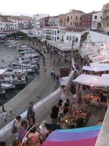 Es Castell-there are also clothes/souvenir shops open evenings along the harbour